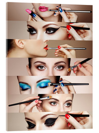 Acrylic glass  Make-up routine II