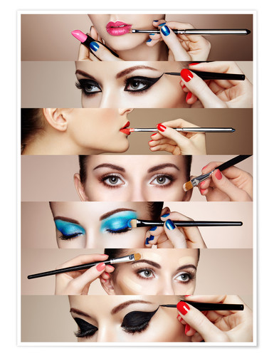 Poster Make-up routine II
