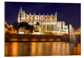 Acrylic print  Cathedral of Palma de Mallorca at night - Christian Müringer
