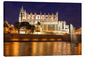 Canvas print  Cathedral of Palma de Mallorca at night - Christian Müringer