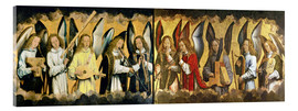 Acrylic print  Christ with angels - Hans Memling