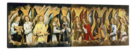 Aluminium print  Christ with angels - Hans Memling