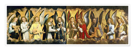 Premium poster  Christ with angels - Hans Memling