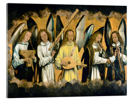 Acrylic print  Five musical angels - Hans Memling
