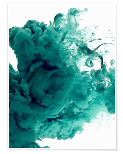 Premium poster Acrylic colors in water