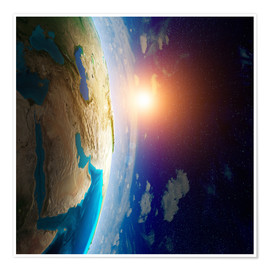 Premium poster  Earth seen from space