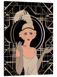 Aluminium print  Smart Flapper Girl