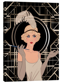 Canvas print  Smart flapper girl