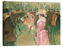 Canvas print  The dance at the cabaret - Henri de Toulouse-Lautrec