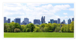 Premium poster  Central Park with Manhattan skyline panorama, New York