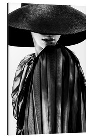 Alu-Dibond  woman with black hat