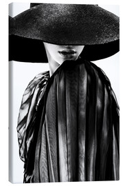 Canvas print  Woman with black hat