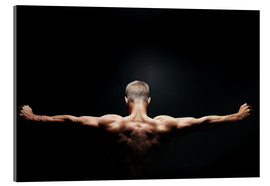 Acrylic print  Muscular back and shoulders
