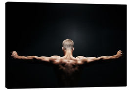 Canvas print  Muscular back and shoulders