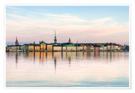 Premium poster  Stockholm city in Sweden, The Old Town (Gamla Stan)