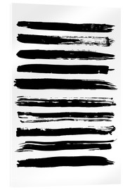 Acrylic glass  Black lines on white