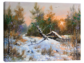 Canvas print  Wintry sunset