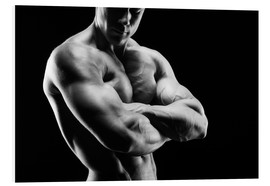 Bodybuilder with arms crossed