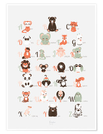 Premium poster abc animals   english