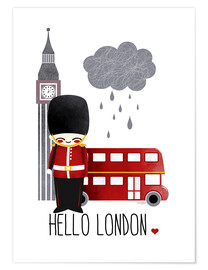 Premium poster  hello london - Kanzilue