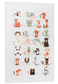 Foam board print  ABC animals (French) - Kanzi Lue