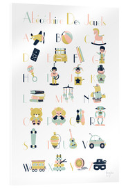 Acrylic print  abc toys   french - Kanzilue