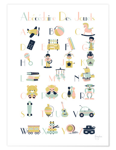Premium poster abc toys   french
