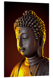 Aluminium print  Buddha in the evening light