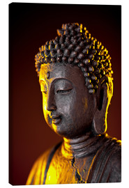 Canvas print  Buddha in the evening light