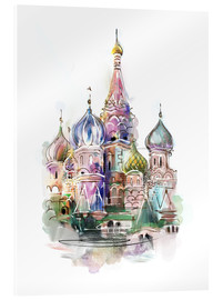 Acrylic glass  St. Basil's Cathedral
