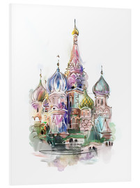 Foam board print  St. Basil's Cathedral