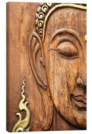 Canvas print  Wood face of the Buddha