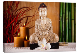Canvas  Buddha with candle