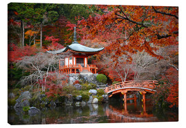 Canvas print  Daigoji Temple in Kyoto in autumn