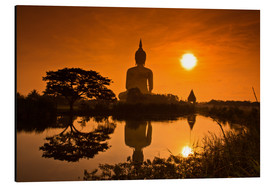 Aluminium print  Shinto statue at sunset