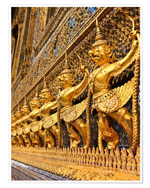 Premium poster Emerald Buddha Temple in Bangkok, Thailand