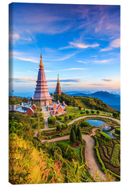 Canvas print  Pagoda, Doi Inthanon national park