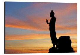 Aluminium print  buddha with beautiful sky