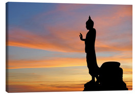 Canvas print  buddha with beautiful sky