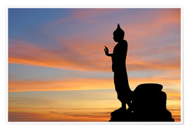 Premium poster  buddha with beautiful sky