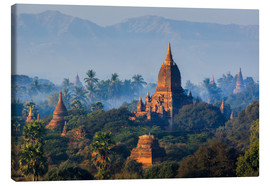Canvas  Temples of Bagan at sunrise