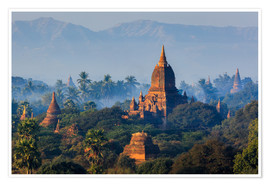 Temples of Bagan at sunrise