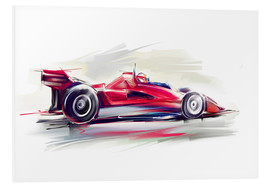 Foam board print  Red Race Car