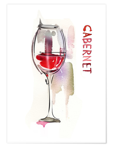 Poster A glass of cabernet