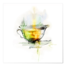 Premium poster  Hot chamomile tea