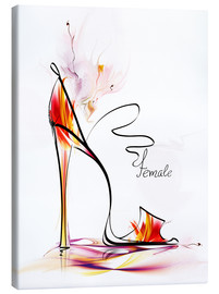 Canvas print  High heels