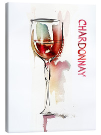 Canvas  A glass of Chardonnay