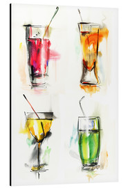 Aluminium print  Colorful drinks