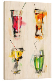 Wood  Colorful drinks