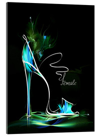 Acrylic glass  Blacklight High Heel